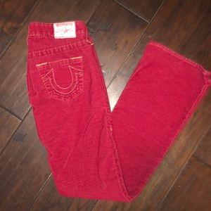True Religion size 25 corduroy pants